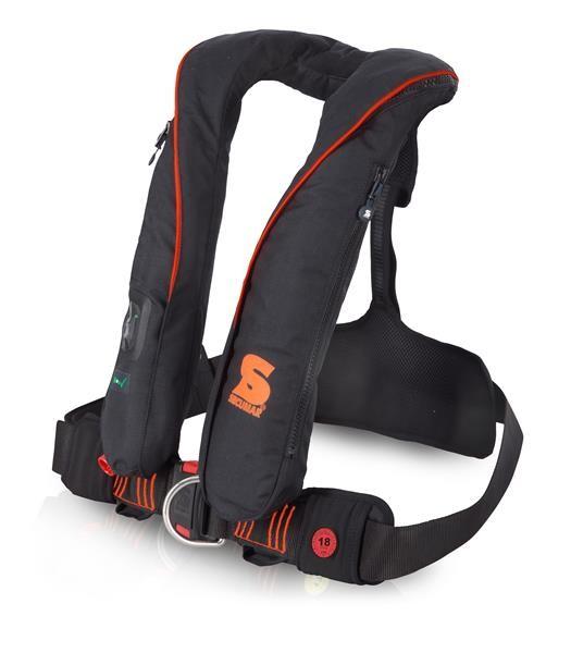Automatische Rettungsweste Secumar Survival 220 Harness schwarz/orange