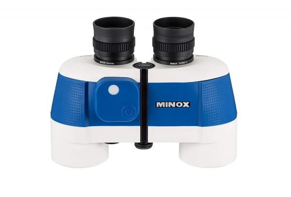 MINOX BN C II 7x50 Wassersport-Fernglas/Fernglas mit Kompass für die Nord- & Südhablkugel