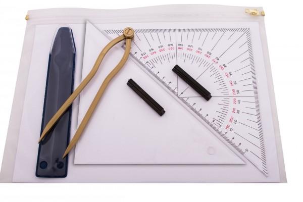 Navigationsbesteck - Navigationsset für Ausbildungszwecke 27 cm