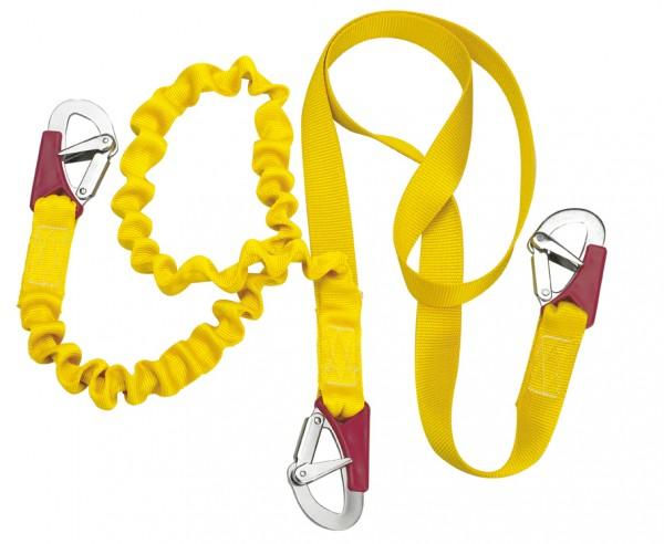 Sicherheitsleine / Lifeline doppelt elastisch 3 Schäkel