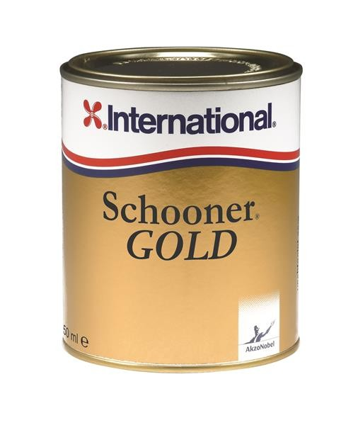 International Schooner Gold Klarlack